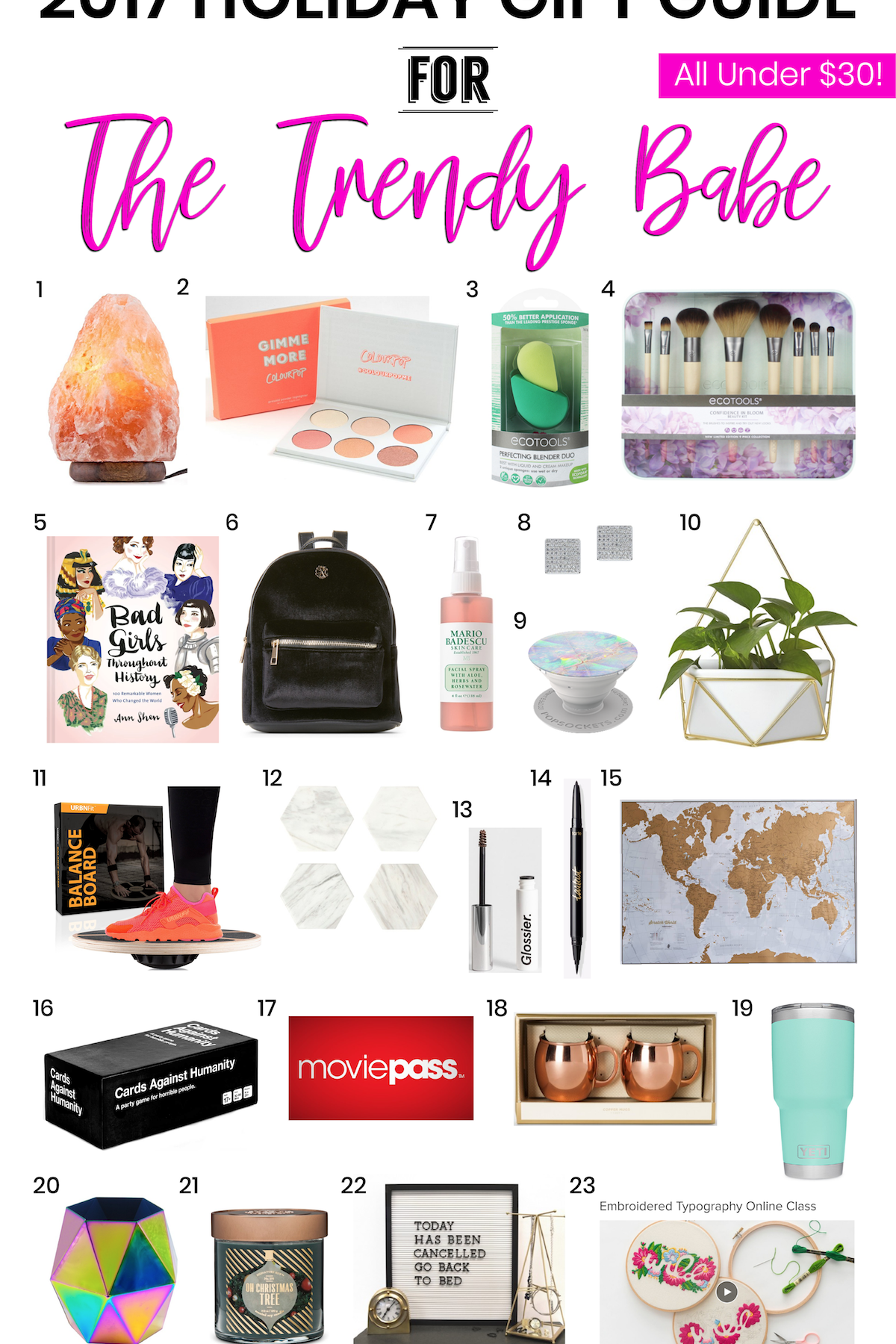 2017 Holiday Gift Guide: The Trendy Babe
