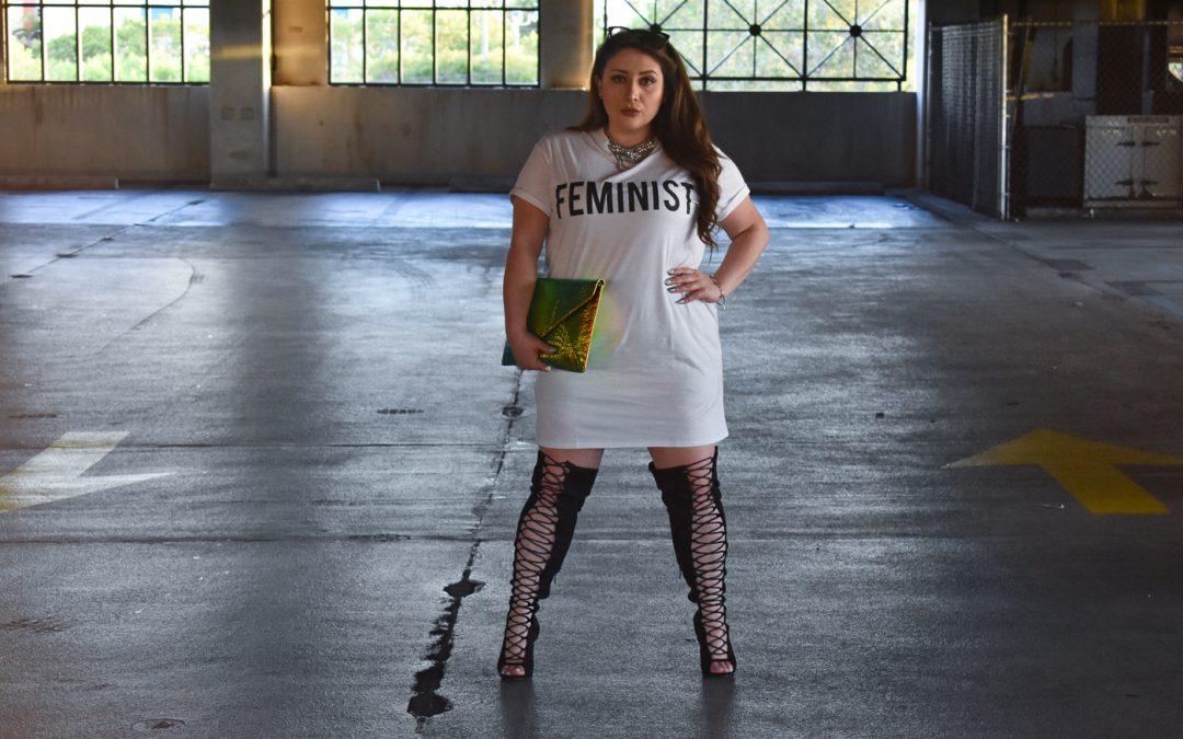 Boohoo Feminist T-Shirt Dress + Hologram Dreams